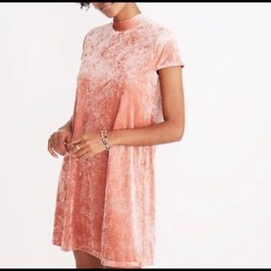 Madewell Dress velour peach medium